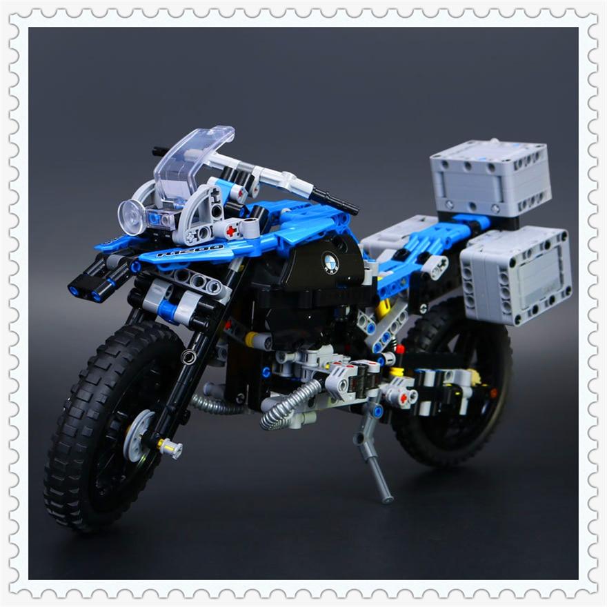 603Pcs Technic Off-road Motorcycles R1200 GS Model Building Block Toys Enlighten 20032 Gift For Children Compatible Legoe 42063 lego technic конструктор приключения на bmw r 1200 gs 42063