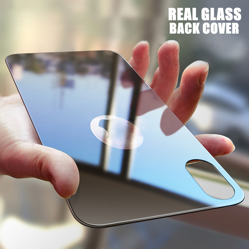 9H 0.3mm Rear Back Tempered Glass For IPhone X XS MAX XR 11 Pro MAX 7 8 Plus Full Cover Screen Protector Film Black White Gold