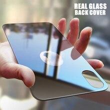 9H Phía Sau Lưng Kính Cường Lực Cho iPhone X XS Max XR 11 Pro MAX 7 8 Plus Full Cover dán Bảo Vệ màn hình Đen Trắng Vàng