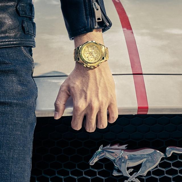 Relogio Masculino Wrist Watches Men 2019 Top Brand Luxury WWOOR Golden Chronograph Men Watches Gold Big Male Wristwatch Man 2019 3