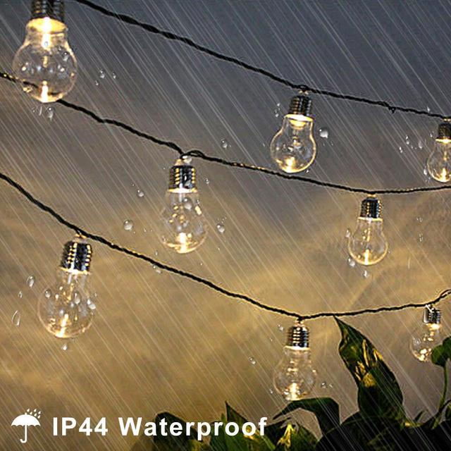 10/20 LED Outdoor Solar Powered String Light Garden Christmas Party Fairy Lamp 4M/6M