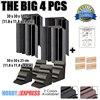 New 4 Pcs Bundle Bass Trap Acoustic Panels Sound Absorption Foam 30 X 30 X 50