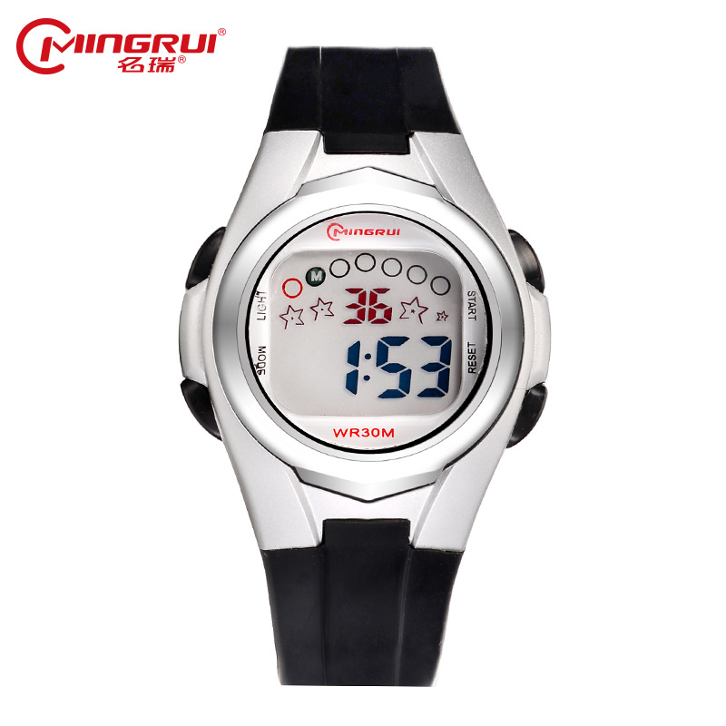 2019 MINGRUI Wrist Watch Children Waterproof Silicone Digital Watch Alarm Luminous LED Sport Watches Students Girl Boy Hour Gift