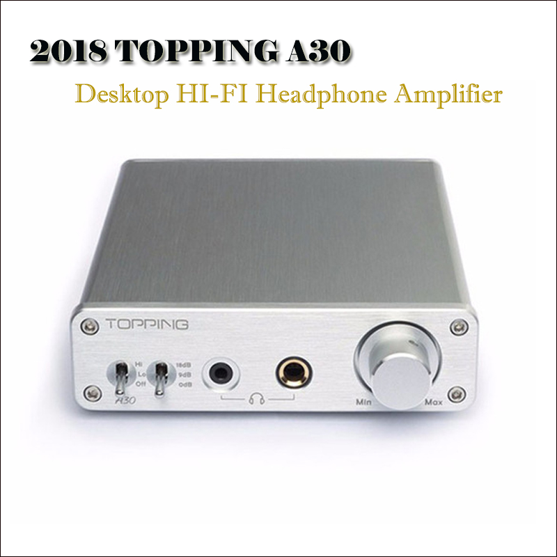 100% Quality Topping A30 Hifi Headphone Amplifier Audio Opa1611 Opa2134 Tpa6120a2 Headphone Amp Support 6.35mm / 3.5mm Output