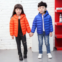 Boys Winter Jacket 2018 New Brand Hooded Kids Girls Winter Coat Long Sleeve WindProof Children Down Coat Outwear Warm 3-16 Years цены