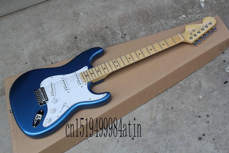 Высокое качество Оптовая Stratocaster Клен Накладка электрическая Гитары левой шеи Электрический Гитары @ 32
