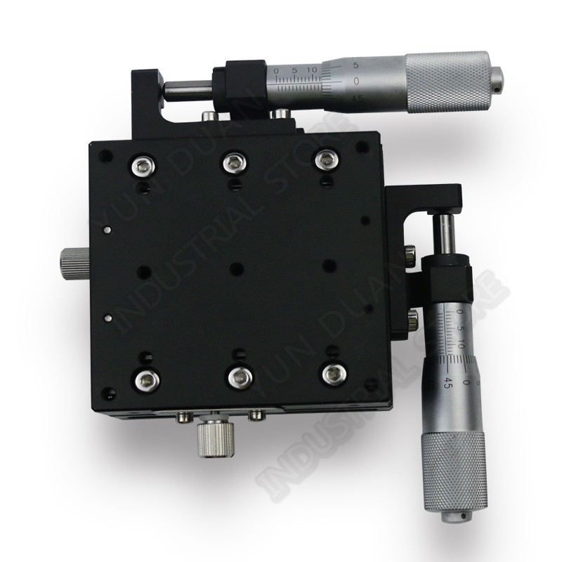 50*50mm XY Axis Trimming Station Manual Displacement Platform Cross Roller Guide Way Linear Stage Sliding Table LY50-R50*50mm XY Axis Trimming Station Manual Displacement Platform Cross Roller Guide Way Linear Stage Sliding Table LY50-R