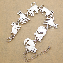 Bastet Cat Kitten Pet Charm Chain Link Bracelets for Women Bangles Gift Party Indian Jewelry Pulseira Feminina Dropshipping