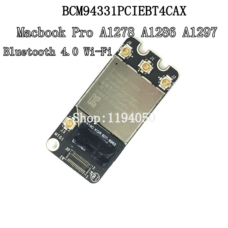 D'origine Bluetooth 4.0 carte wifi Carte Airport pour Pro A1278 A1286 2011 2012 Année BCM94331PCIEBT4CAX carte wifi WLAN