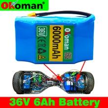 Большой емкости 6AH баланс набор батарей для скутера 36 V 6000 mAh Высокий дренаж 2 колеса электрический самокат баланс батареи
