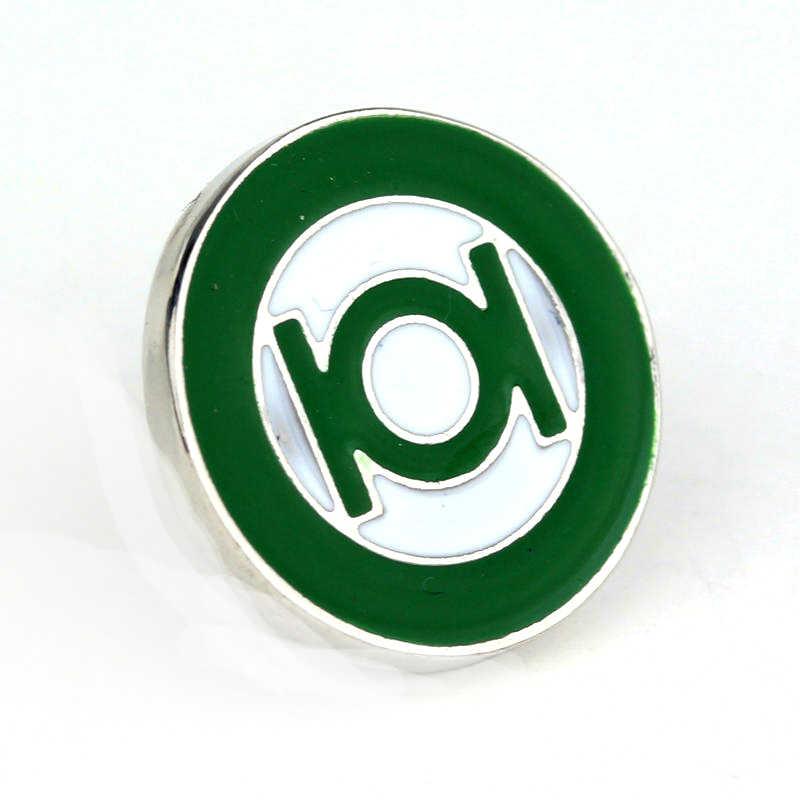 Dongsheng Terbaru Film Perhiasan Bros DC Comics Superhero Green Lantern Lapel Pin Bros Emblem Badge untuk Pria Kemeja Pins-40