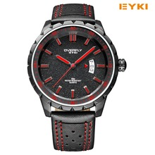 Casual EYKI Brand Man Sports Watch Beautiful And Fashion Spark Dial With Luminous Hands Quartz-watch Fan-shaped Calendar Relogio