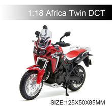 Maisto 1:18 Motorcycle Model Africa Twin DCT Model bike Alloy Motorcycle Model Motor Bike Miniature Race Toy For Gift Collection 1 10 maisto motorcycle toy alloy yamaha honda motorbike model racing motor miniature car models kids toys gift