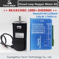 NEMA 34 Closed Loop motor 12NM 1700Oz in 6A L 156mm 86J18156EC 1000+2HSS86H 2 phase step servo driver