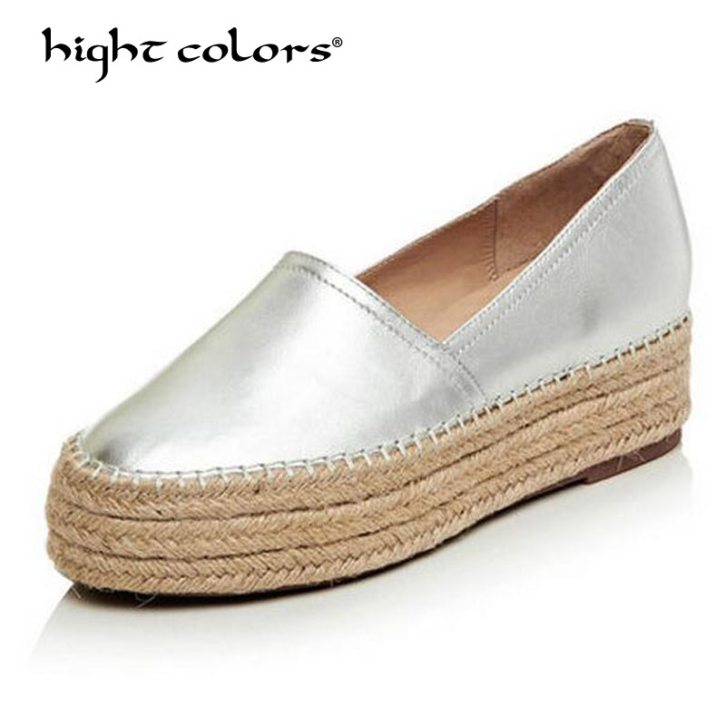 Women Shoes Slip On Loafers Women Flats Genuine Leather Footwear Ladies Shoes Spring Autumn Flat Shoes Woman 2017 Female Flats цена