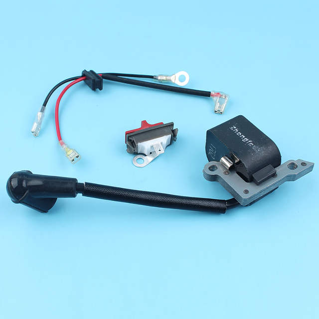 US $11 39 5% OFF Ignition Coil On OFF Stop Kill Switch Kit For HUSQVARNA  136 137 141 142 235 240 E 141 41 36 26 Chainsaw Replacement Spare Parts-in