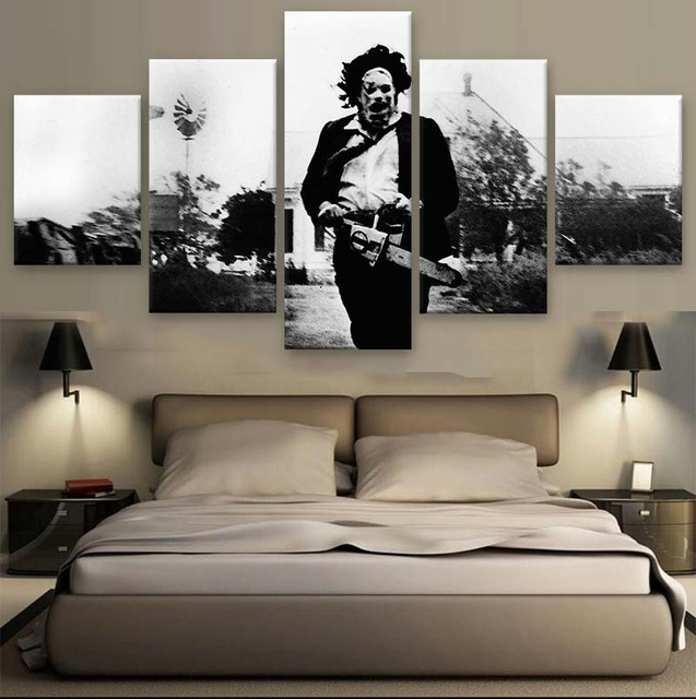 Awesome Unframed 5 Panel The Texas Chainsaw Massacre Modern Printed Paintings On  Canvas Wall Art For Home