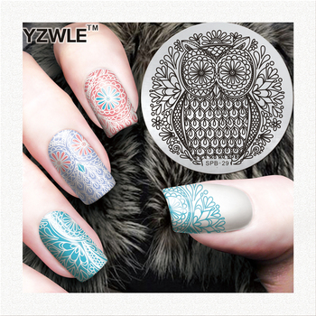 2020 Hot Nail Art Image Stamping Round Plates New Owl Animals Design Template YZW-Z Series 01-30 Original Designs image