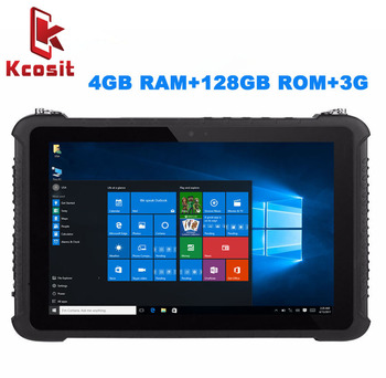 "Industrial Rugged Tablet PC Waterproof Dustproof  Mobile Computer Windows 10 Home 10.1""  4GB RAM 128GB SSD GPS High precision 3G"