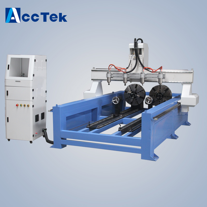 CNC wood ,Customized cnc engraving machine with Artcam software ,Rotary axis 3d milling machine