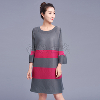 FREE SHIPPING Fashion Show Thin Fold Spell Color Easy Large Yards Long Sleeve Dress Horn IN