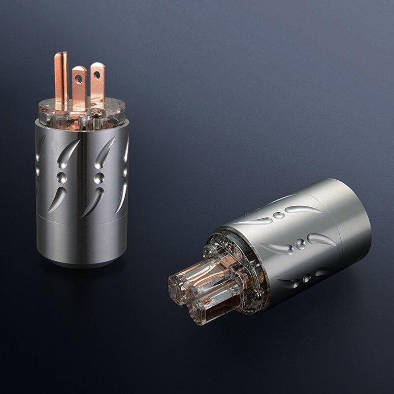 Liga de Alumínio Padrão dos Eua ac + Fonte de Alimentação de Alta Viborg Transparente 15a Plug Fidelidade Iec x 1 Par 20mm