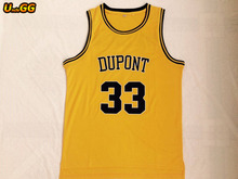 52c7e9839 Uncle GG USA Cheap  33 Jason Williams Jersey Dupont High School Panthers  Throwback Shirt Stitched Yellow Mens Basketball Jersey