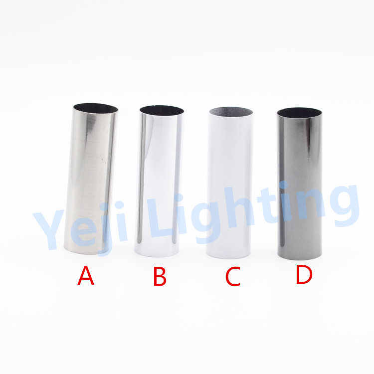 Decoration Casing Pipe Connection Straight tube Lamp base wall lamp tube for led Crystal chandelier pendant light ceiling lamp