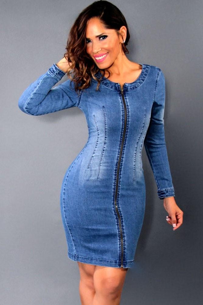 6591ea713d Dear-Love Sexy Fashion Asymmetric Jeans Maxi obe Intense Intuition Denim  Blue High Low Dress vestidos largos de verano LC60562USD 39.78 piece