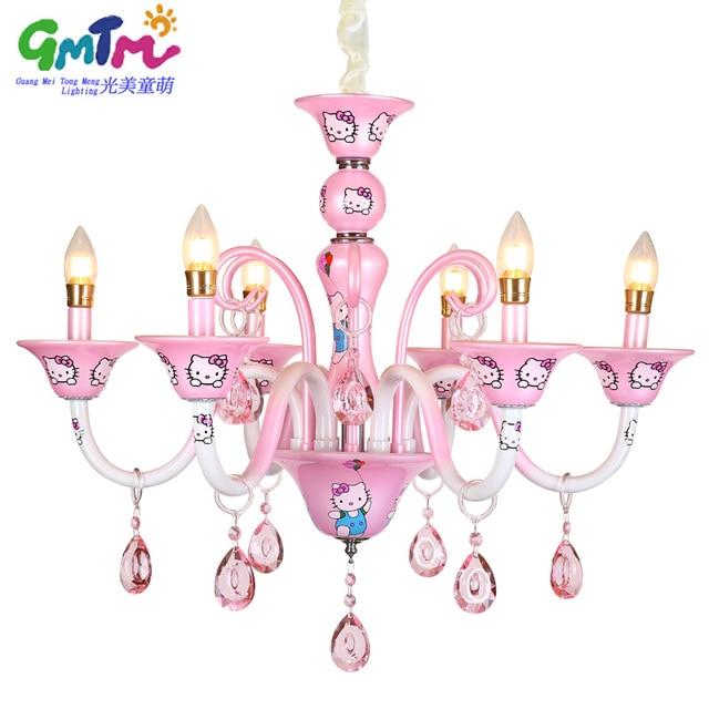 Genial GMTM Nouveau Design Moderne Petite Fille Salon Lustre Chambre Lampe  éclairage Rose Bonjour Kitty Cristal Lustre