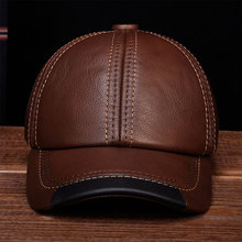 HL100 Aorice Brand new real cow skin leather baseball caps hats Men's genuine leather baseball cap hat цена