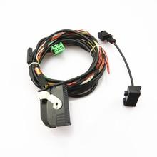 TUKE Car Bluetooth Plug Wiring Harness Cable + Microphone For VW Passat B6 Jetta MK6 Golf 5 6 Tiguan RCD510 RNS510 1K8 035 730 D
