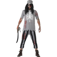 Holloween Pirates Of The Caribbean Zombie Costume Cosplay Vampire Ghost Party Fancy Dress Scary Skeleton For