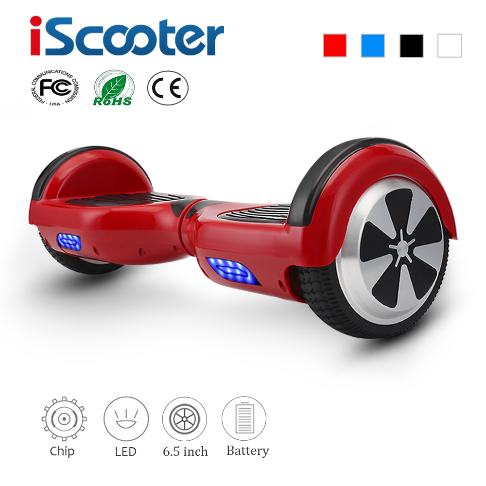 IScooter 6.5 นิ้ว Hoverboards Self BALANCE Hoverboard ไฟฟ้าสองล้อ Unicycle Overboard Gyroscooter Oxboard สเก็ตบอร์ด