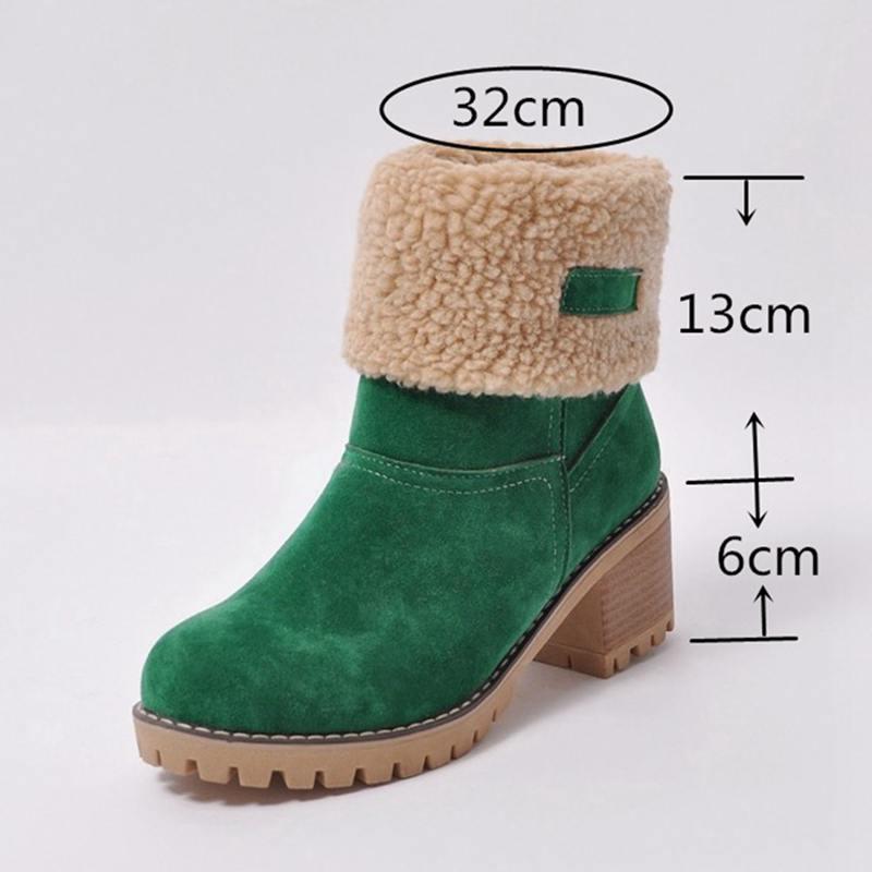 : Comprar ASILETO marca mujeres botas mujer Zapatos de invierno mujer botas de nieve caliente de piel cuadrado tacones bota feminina