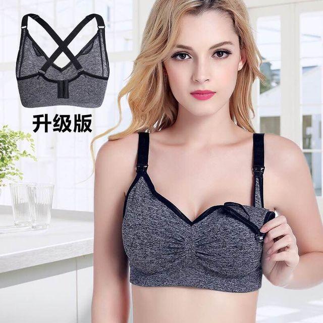 6f8db3d5d0c87 new THYME Breast Feeding Bras Maternity Nursing Bra Seamless Underwear  Double Layer Wireless Belt Pad Feeding