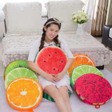 Plush toys creative and lovely fruit cushion for leaning on of creative office sofa cushion pillow watermelon