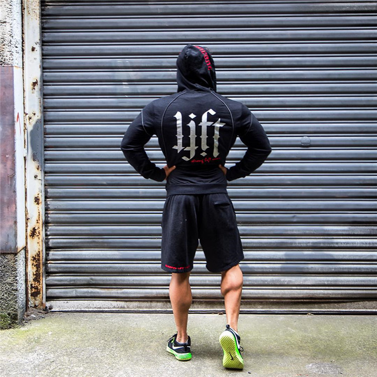 Autumn Winter New Brand Men Fashion Solid Gyms Hoodies Bodybuilding Sweatshirt Hip Hop Sweatshirts Male Hooded Pullover Fitness