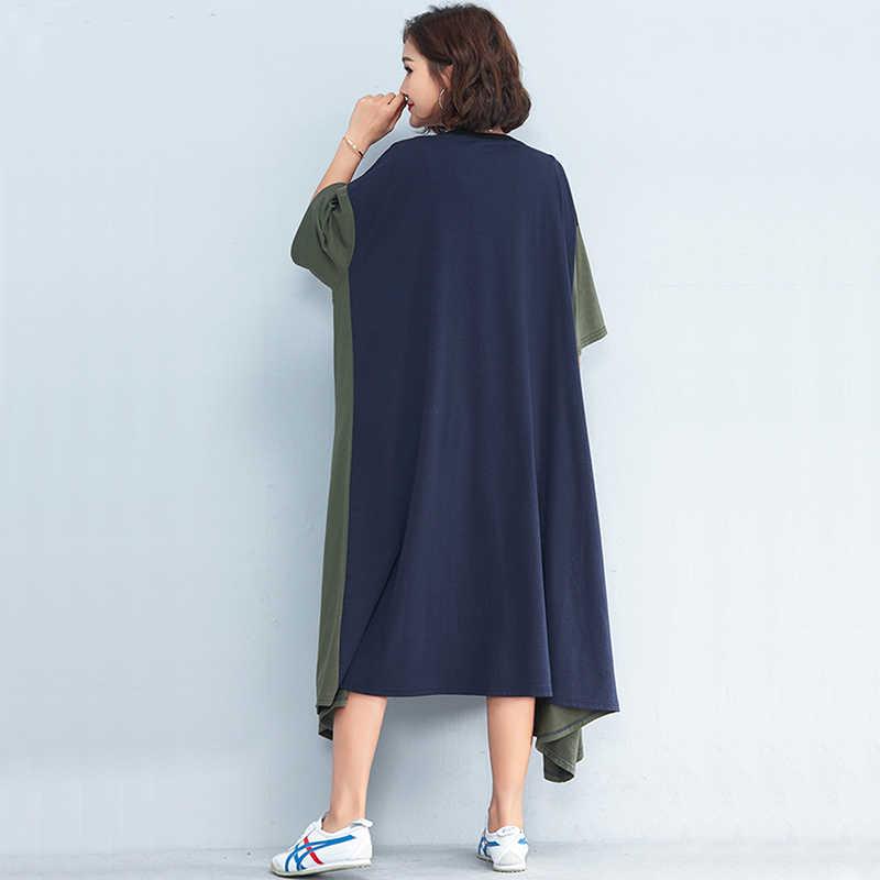 Oladivi/брендовая одежда с модным принтом; большие размеры; женские повседневные свободные летние платья; длинная туника; 2019 Vestidos; Новинка
