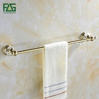 Brass Gold Wall Mounted Towel Rack For Bathroom Accessories