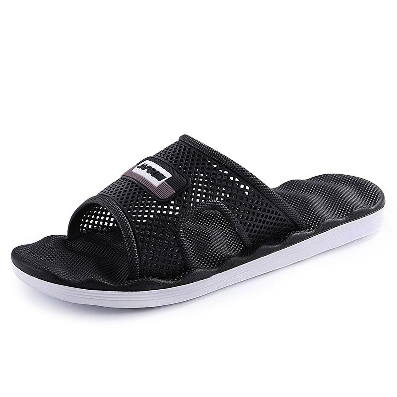 2019 Nuovo Pantofole Estive Degli Uomini Di Usura Di Modo Di Estate Degli Uomini Sandali Outdoor Sandali Di Una Parola Di Trascinamento Casual Tendenza Scarpe Da Spiaggia