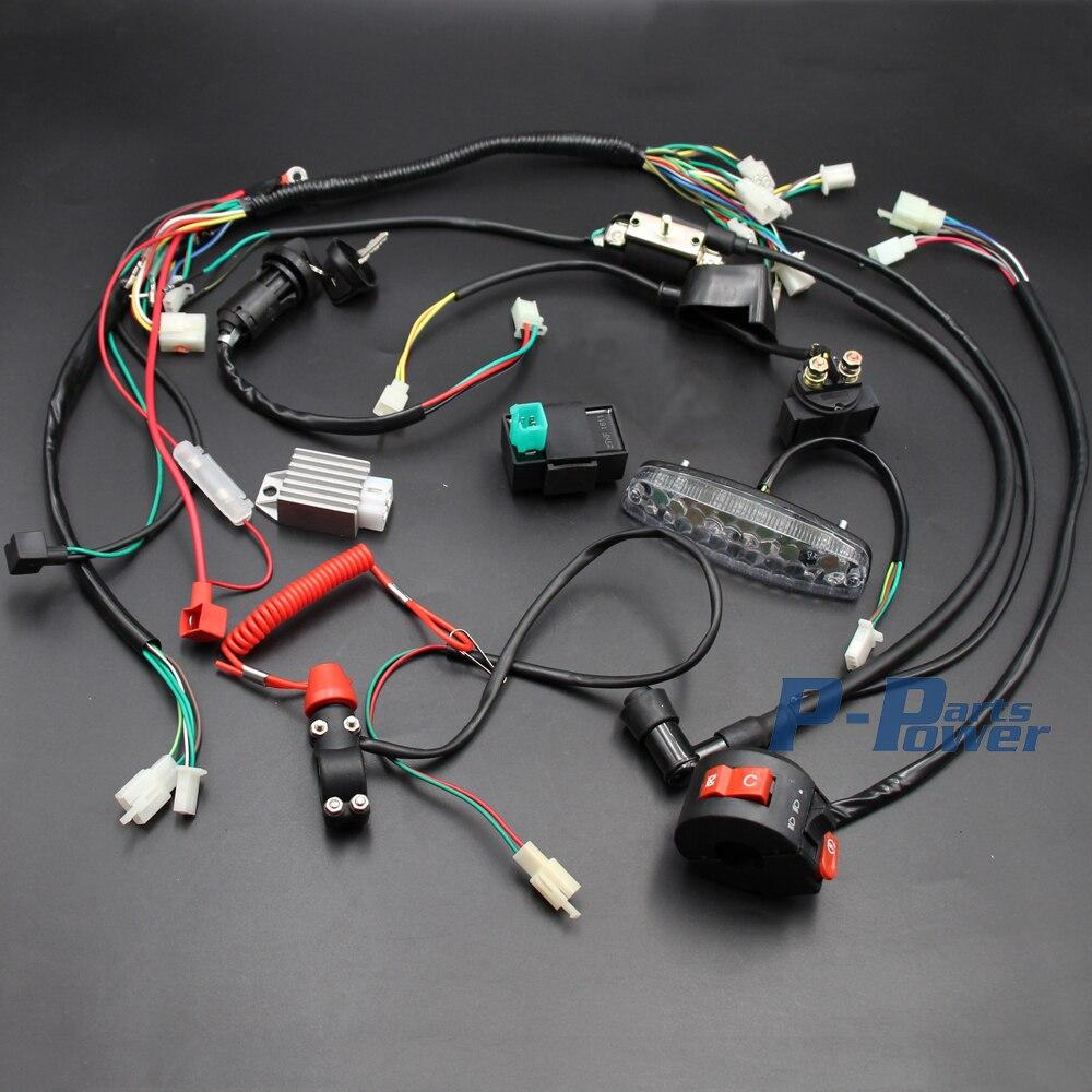 Schema Elettrico Quad 110 : Pieno impianto elettrico cablaggio bobina cdi fanale posteriore