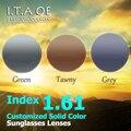 1.61 индекс Индивидуальные 3 Сплошной Цвет Солнцезащитные Очки Линзы Для Оптический Близорукость Очки Для Чтения Кадров Анти-УФ Покрытие