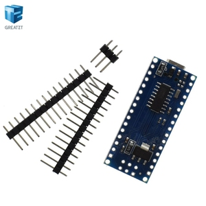 Image 4 - Free shipping ! 20PCS Nano 3.0 controller compatible for  nano CH340 USB driver NO CABLE nano v3.0 for Arduino