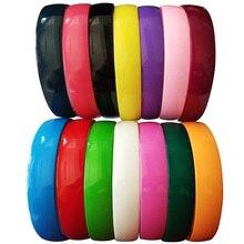 25 мм ширина женские модные пластиковые Teech повязки для девочек детские яркие цветные Повязки для волос Детские аксессуары для волос 12 шт./партия