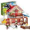 Banbao 8581 animal farm building block define figuras 315 pcs educacional diy construção de tijolos brinquedos para as crianças z199