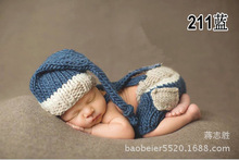 2pcs hat+pants New pocket Clothes baby set Toddlers handmade newborn infant photography props