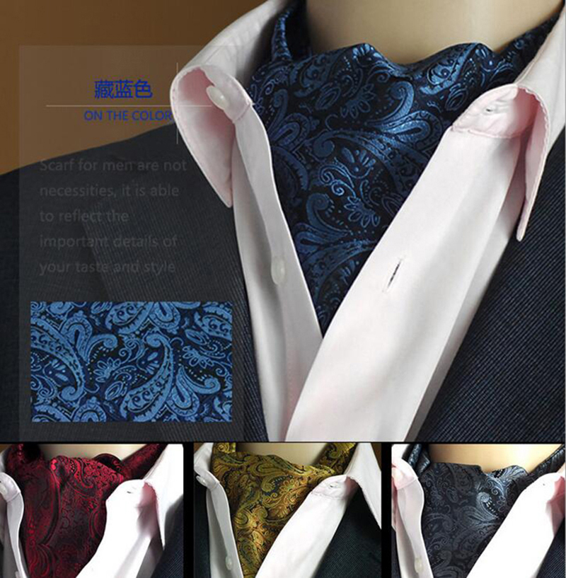 GUSLESON Quality 19 Styles Fashion Luxury Duplex Silk Printing Men Scarf Polka Dot Scarves Suit England Jacquard Weave