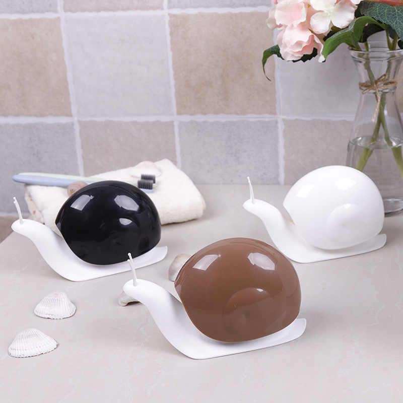 120ml Portable Cartoon Shower Shampoo Dispensing Bottles Bathroom Accessories Snail Shape Liquid Soap Dispensers Press