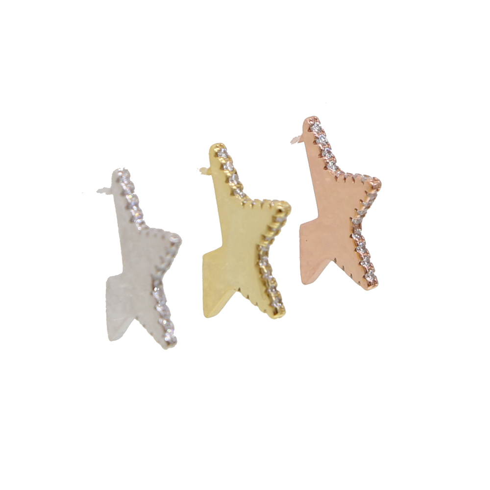 2018 Christmas Real 925 sterling silver stud minimalist Star earrings cute jewelry delicate girl women ear tiny Star delicate